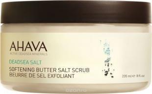 """Кокосовый скраб, скраб-масло """"ahava"""" на основе солей мертвого моря, смягчающий, 235 мл"""
