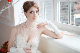 Свадебный макияж в серых тонах, свадебный макияж для зеленых глаз и средне-русых волос