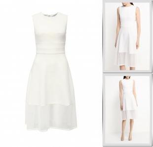Белые платья, платье lost ink, весна-лето 2016