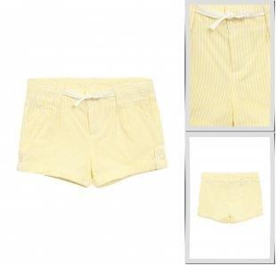 Желтые шорты, шорты united colors of benetton, весна-лето 2016