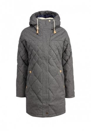 Серые куртки, куртка утепленная roxy, осень-зима 2016/2017