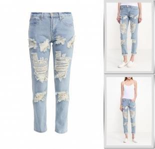 Голубые джинсы, джинсы glamorous, весна-лето 2016