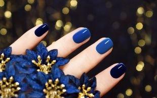 Рисунки на квадратных ногтях, маникюр по фен-шуй в синих тонах
