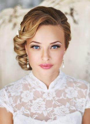 Свадебный макияж для голубых глаз и русых волос, удивительный свадебный макияж для голубых глаз