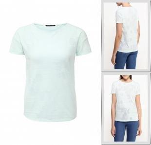 Бирюзовые футболки, футболка sisley, весна-лето 2016