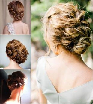 Греческая прическа с челкой на средние волосы, свадебные прически на средние волосы