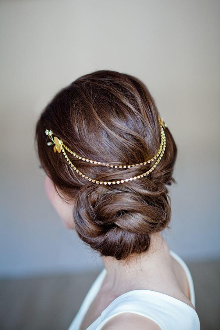 Свадебная прическа для длинных волос в греческом стиле