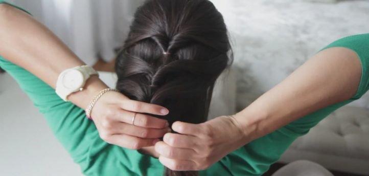 Прическа с плетением - свободный колосок