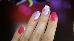 Дизайн ногтей слайдер, маникюр с наклейками на длинные ногти