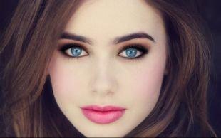 Макияж для шатенок с голубыми глазами, очаровательный макияж на выпускной