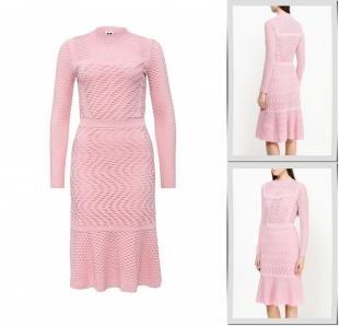 Розовые платья, платье m missoni, осень-зима 2016/2017