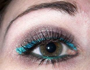 Макияж для зелено-голубых глаз, красочный макияж для серых глаз