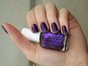 Синий маникюр, фиолетовый маникюр на коротких ногтях