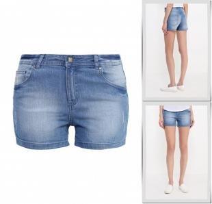 Голубые шорты, шорты джинсовые befree, весна-лето 2016