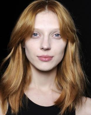 Карамельный цвет волос на длинные волосы, медно-русый цвет волос