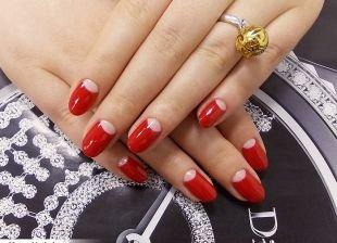 Красный френч, красный французский маникюр (френч)