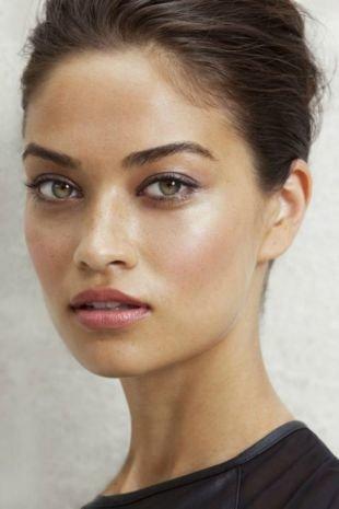 Макияж на каждый день для серых глаз, макияж на 1 сентября для зеленых глаз и темных волос
