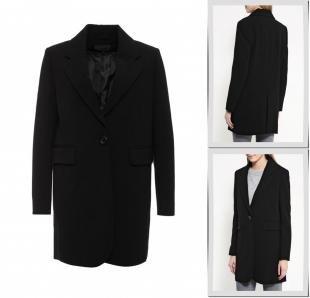Черные пальто, пальто piazza italia, осень-зима 2016/2017