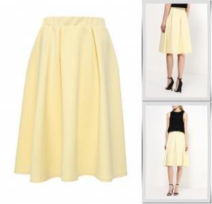 Желтые юбки, юбка amplebox, весна-лето 2016