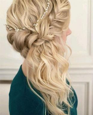 Свадебные прически в греческом стиле на длинные волосы, модная прическа на школьный выпускной
