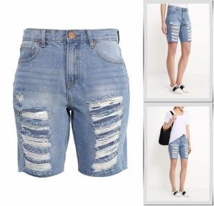 Голубые шорты, шорты джинсовые lost ink, весна-лето 2016